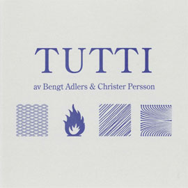 Cover of the CD TUTTI by Bengt Adlers